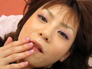 Anna Watanabe inhales 2 cocks and is..