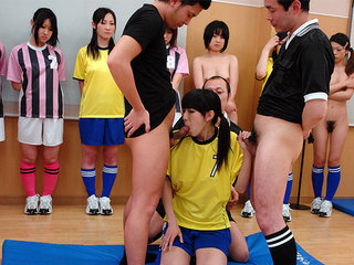 Awesome gangbang with Chinese soccer..