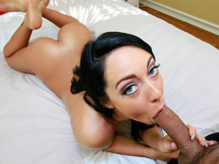 Young lovely girl Sabrina sucks and..
