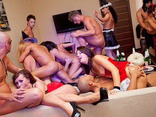 Halloween theme lovemaking party in..